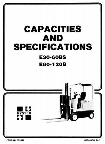Hyster E60B, E70B, E80B, E100B, E120B Electric Forklift