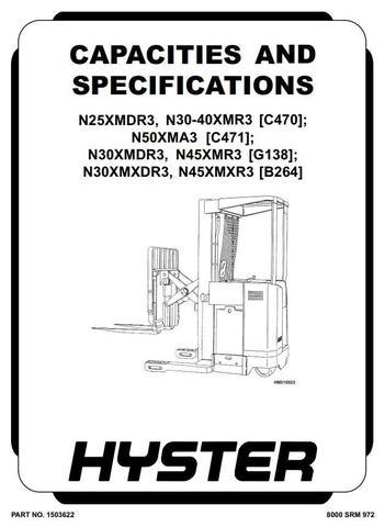 Hyster N30XMDR3, N45XMR3 Electric Forklift Truck G138
