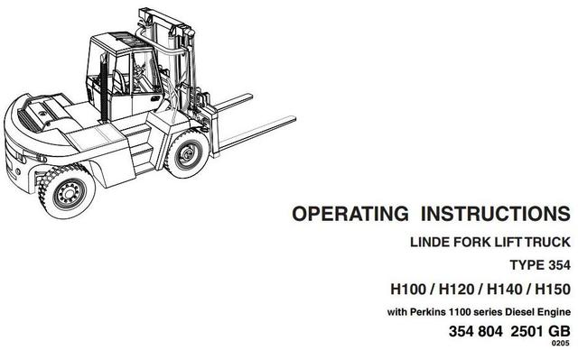 Linde H100, H120, H136, H140, H150, H160 Forklift Truck