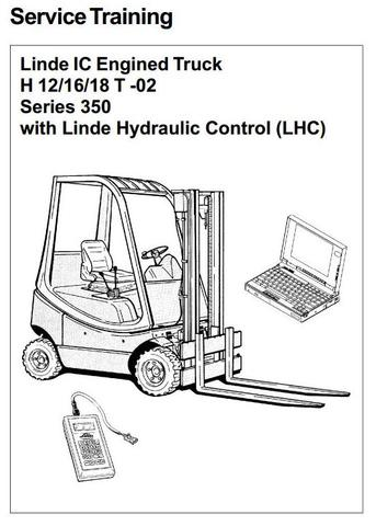 Linde H12T, H16T, H18T LPG Forklift Truck 350-02 Series