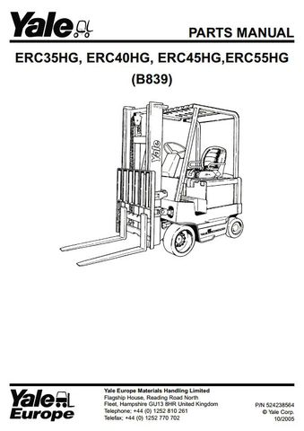 Yale ERC35HG, ERC40HG, ERC45HG, ERC55HG Electric Forklift