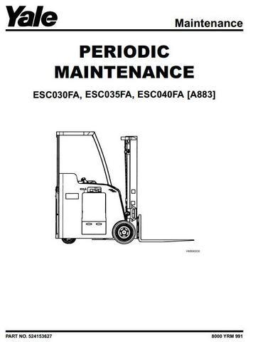 Yale ESC030FA, ESC035FA, ESC040FA Electric Forklift Truck