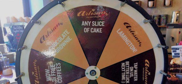 Cafè in London - Wheel of fortune