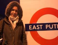 Uta Leyke in der Tube London