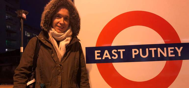 Uta Leyke in der Tube London