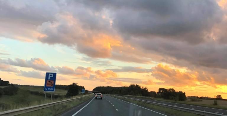 Englische Autobahn beim Umzug