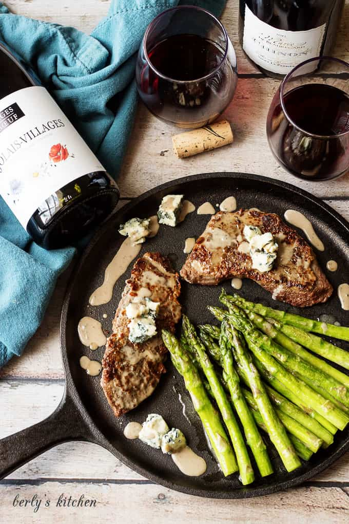 Make an affordable and tantalizing French-inspired two-course steak dinner with these authentic, made in France, cheeses, and wines.