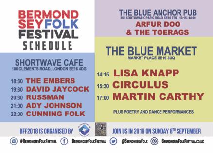 Bermondsey Folk Schedule