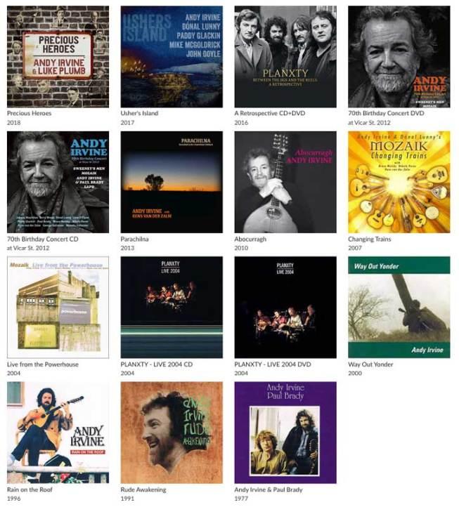 Andy-Irvine-Records