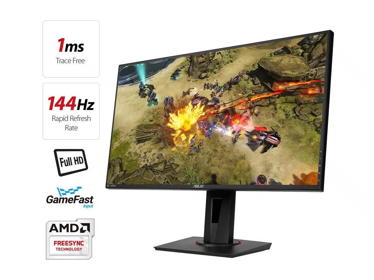 ASUS VG278Q 27 Full HD 1080p 144Hz 1ms DP HDMI DVI Eye