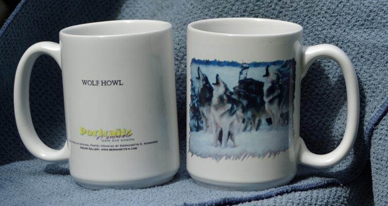 wolf howl mugs