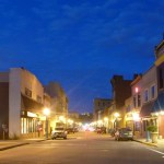 main street in carnegie at twilight