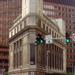 triangular building in downtown Pittsburgh