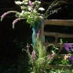 wildflowers in vases