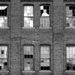 broken windows in building