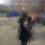 photo through hammered glass