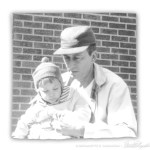 My father and me, spring 1964.