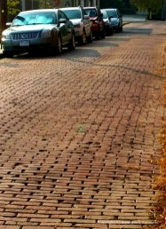 Still several brick street in town. This is Sansbury Street.