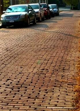 Still several brick street in town. This is Sansbury Street.