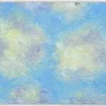 """Winter Sky Study, Late Afternoon"" pastel on self-prepared board, 11"" x 8"" © Bernadette E. Kazmarski"