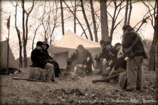 A Cold Day in April, Civil War Living History Event at ACFL&MH, 2014