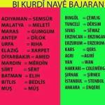 Kürtçe İl ve İlçe isimleri – (Navên Bajar û Navçeyên Kurdan)