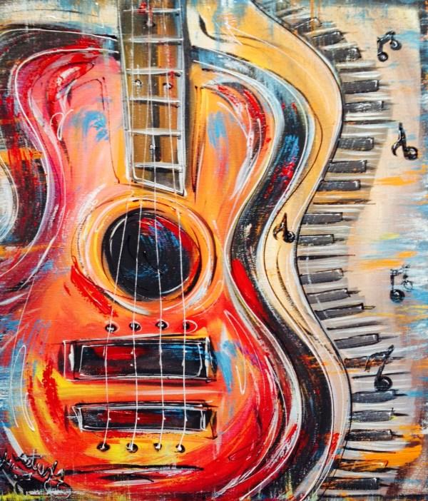 Abstract Jazz Piano Musical Notes