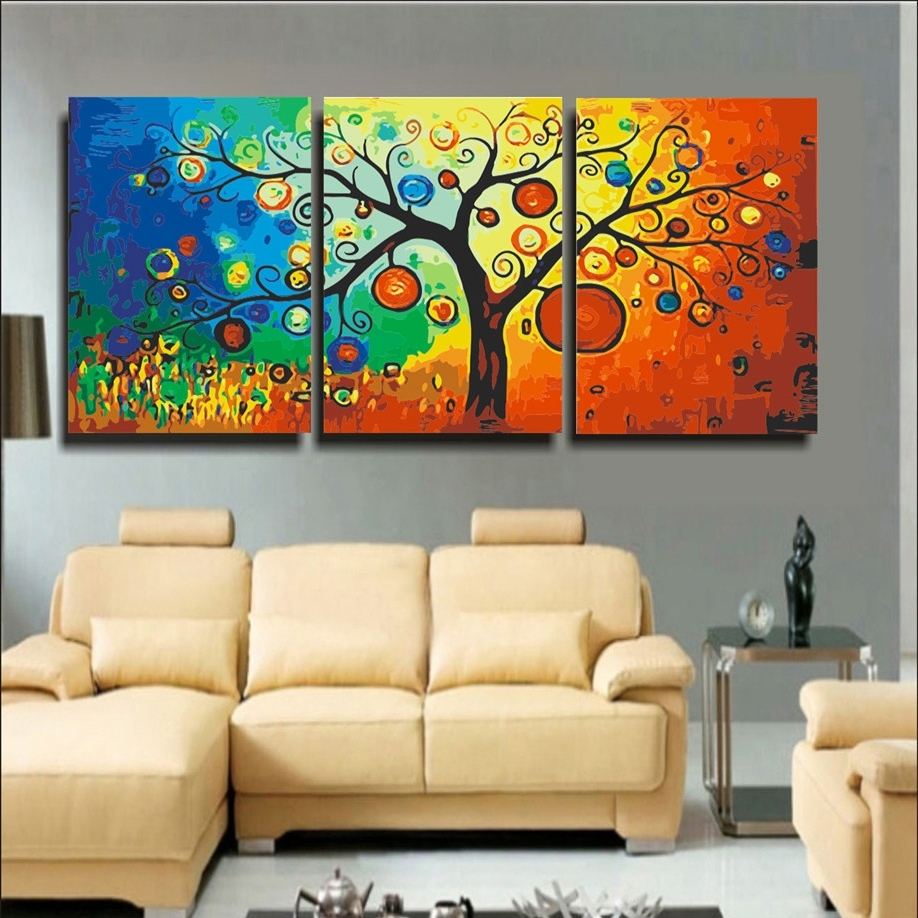 15 The Best Abstract Wall Art For Living Room