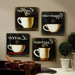 Coffee Decor For Kitchen Organizing Cabinets The Best Bistro Wall Art