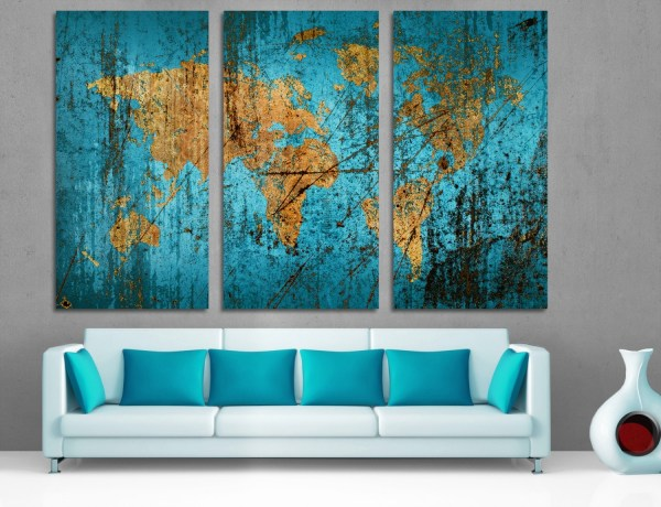 Collection Of Dark Blue Abstract Wall Art