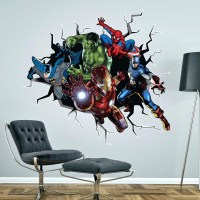 15 Collection of Superhero Wall Art Stickers