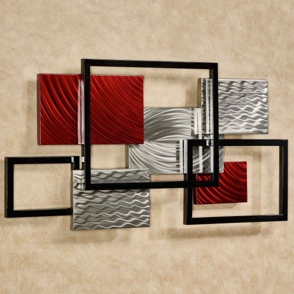 Collection Of Geometric Modern Metal Abstract Wall Art