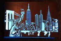 Top 15 of Metal Wall Art New York City Skyline
