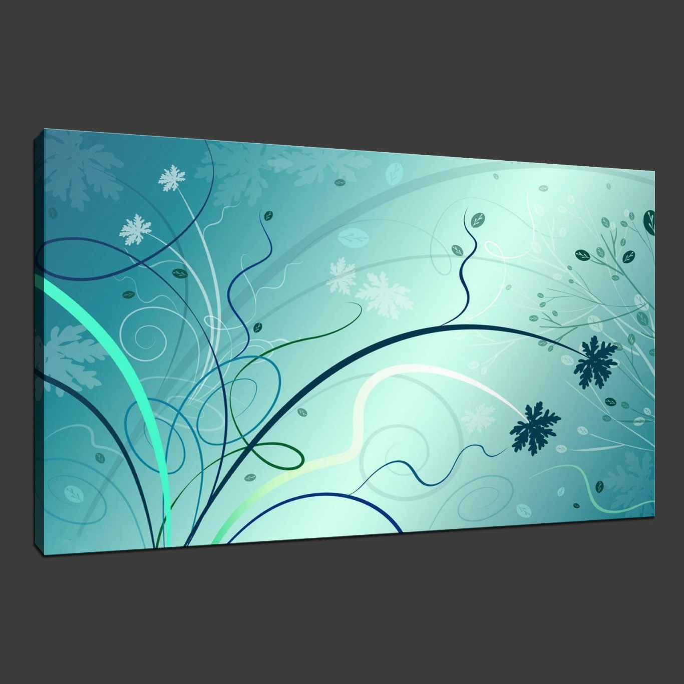 15 Collection of Aqua Abstract Wall Art