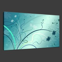 15 Collection of Aqua Abstract Wall Art