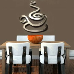 Wall Decorations For Kitchen Miele Appliances 15 Best Collection Of Coffee Theme Metal Art