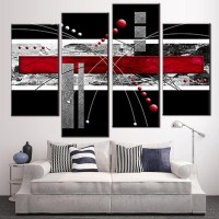 15 Best Collection of Red And Black Canvas Wall Art
