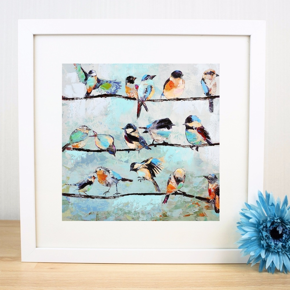 2018 Latest Birds On A Wire Wall Art
