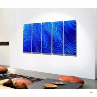 2018 Popular Orange And Blue Wall Art