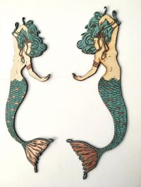 15 Best Collection of Wooden Mermaid Wall Art