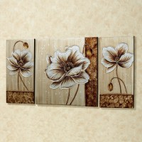 15 Collection of 3 Piece Floral Canvas Wall Art