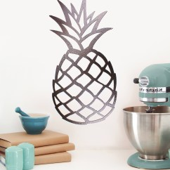 Pineapple Decorations For Kitchen Pictures Walls 15 Best Metal Wall Art