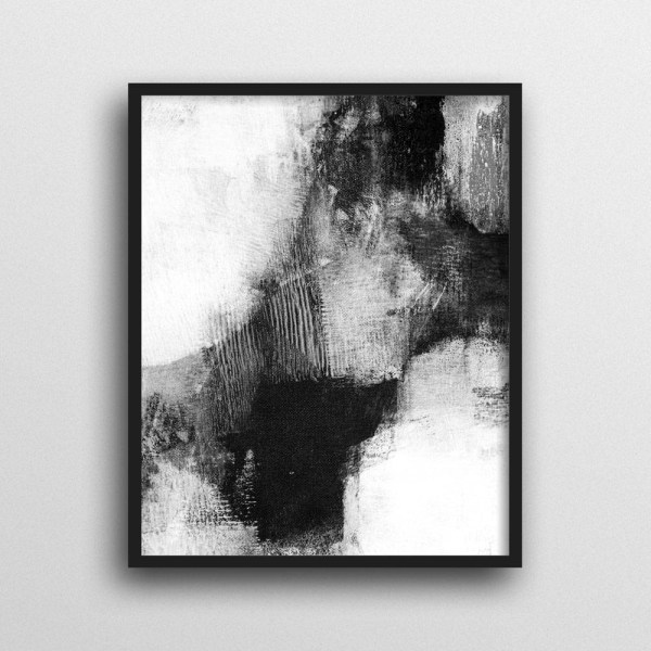 2019 Popular Black And White Framed Wall Art