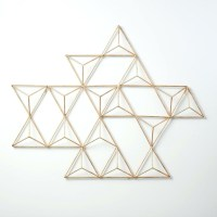15 Ideas of Abstract Geometric Metal Wall Art