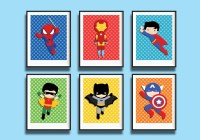 15 Best Collection of Superhero Wall Art For Kids