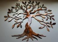 2018 Best of Contemporary Large Oak Tree Metal Wall Art