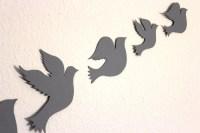2018 Latest White Birds 3D Wall Art