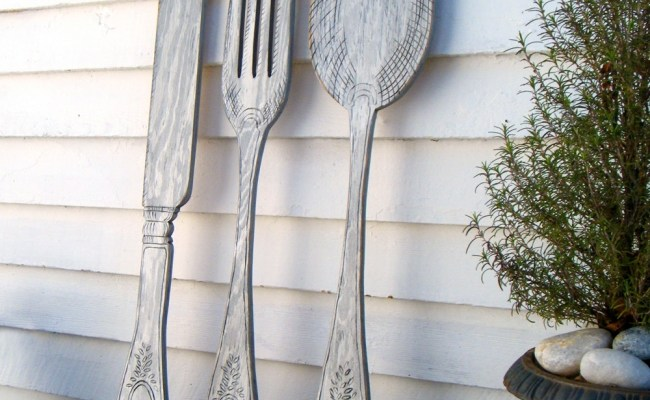 15 Best Ideas Of Wooden Fork And Spoon Wall Art