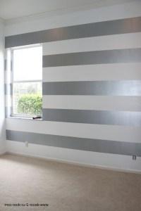 Fancy Painting Horizontal Stripes On Walls Ideas