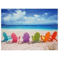 Canvas Beach Chair Semco White Rocking The Best Wall Art Scenes